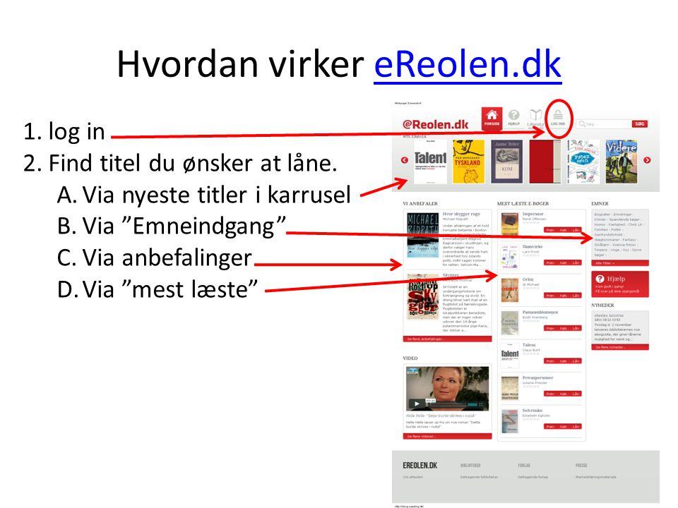 Hvordan virker eReolen.dk