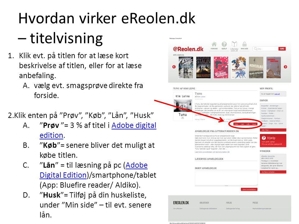 Hvordan virker eReolen.dk – titelvisning