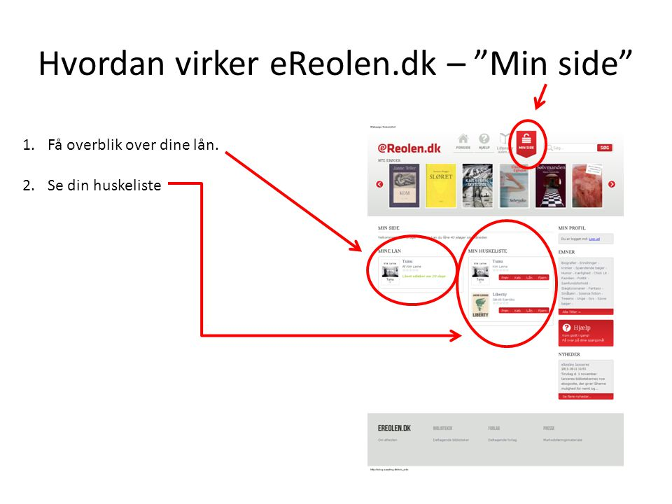 Hvordan virker eReolen.dk – Min side
