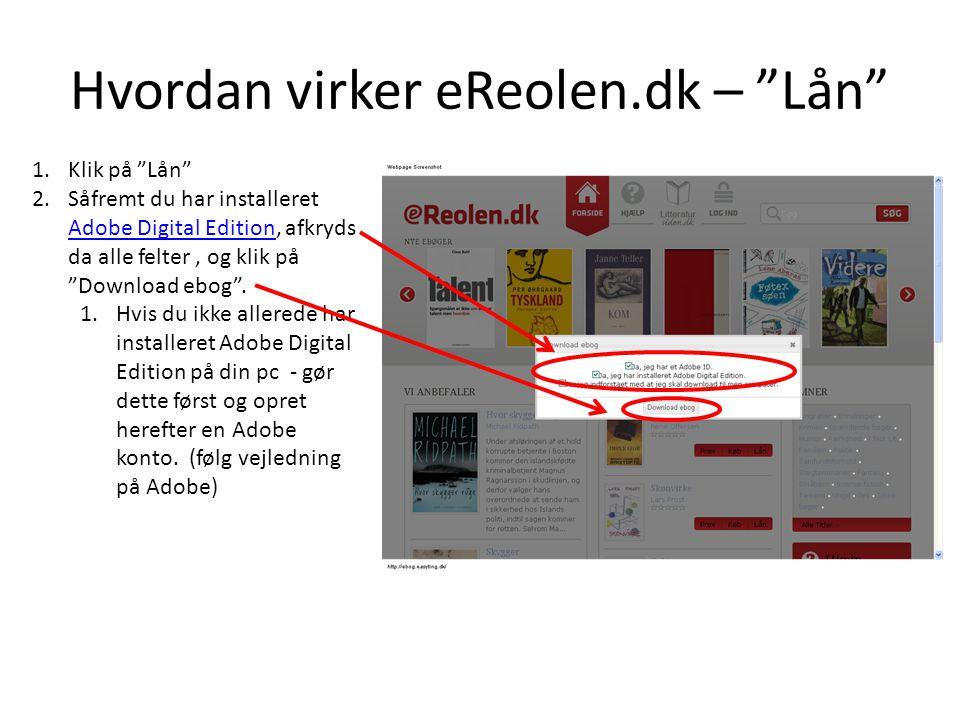 Hvordan virker eReolen.dk – Lån