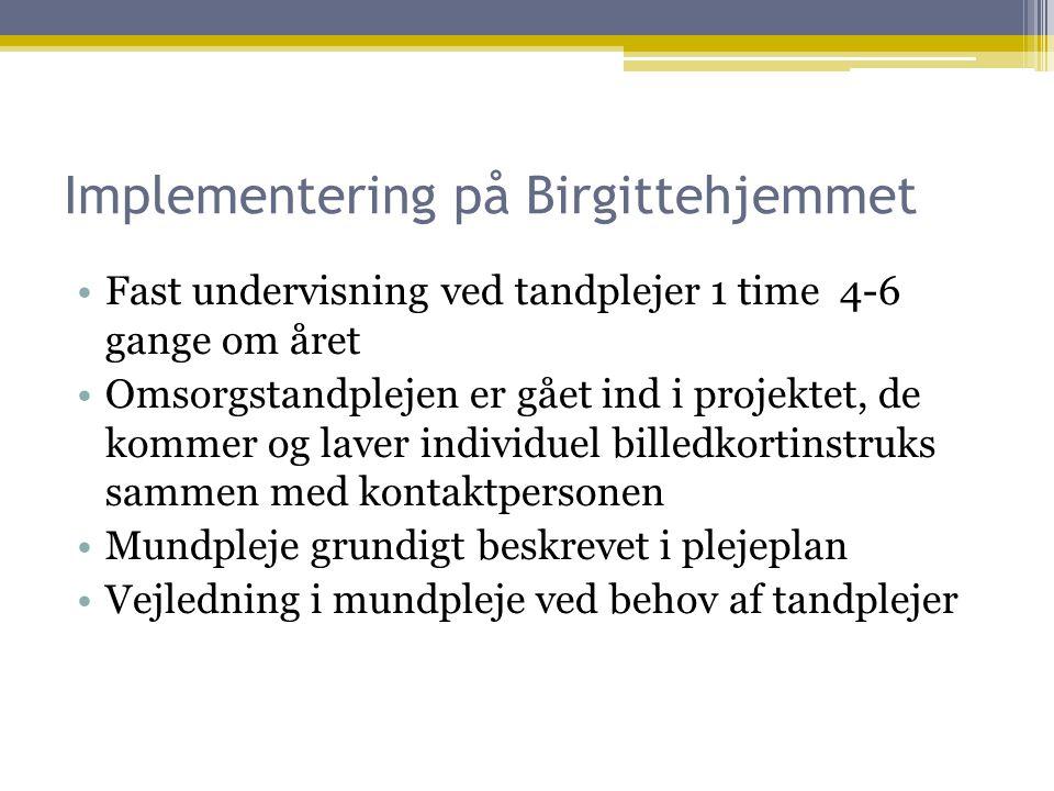 Implementering på Birgittehjemmet