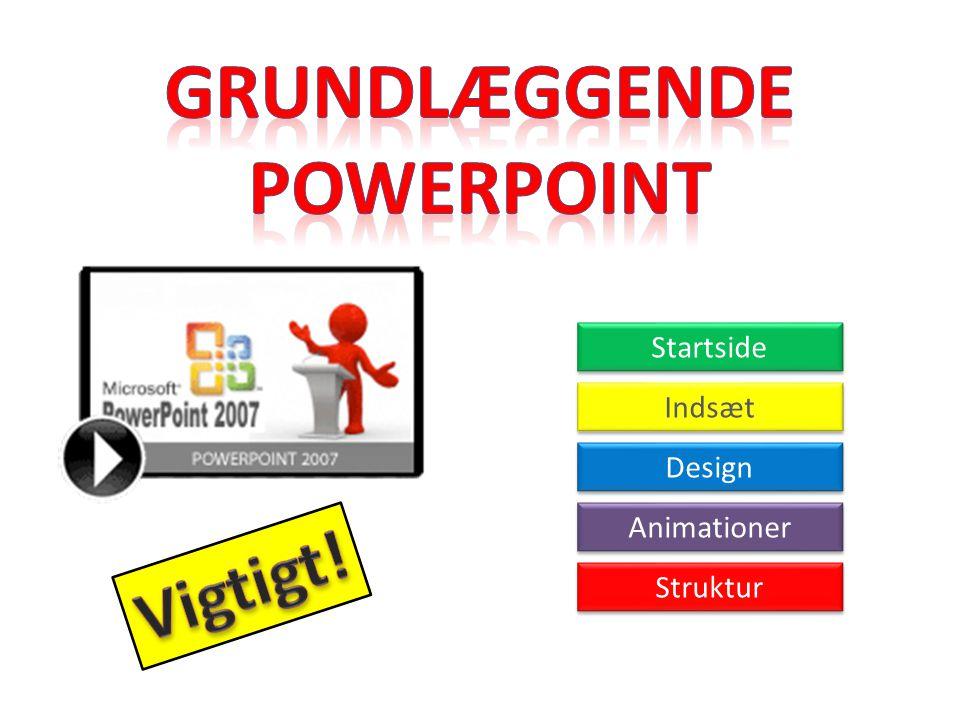 Grundlæggende PowerPoint