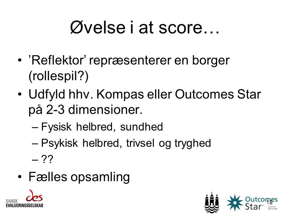 Øvelse i at score… 'Reflektor' repræsenterer en borger (rollespil )