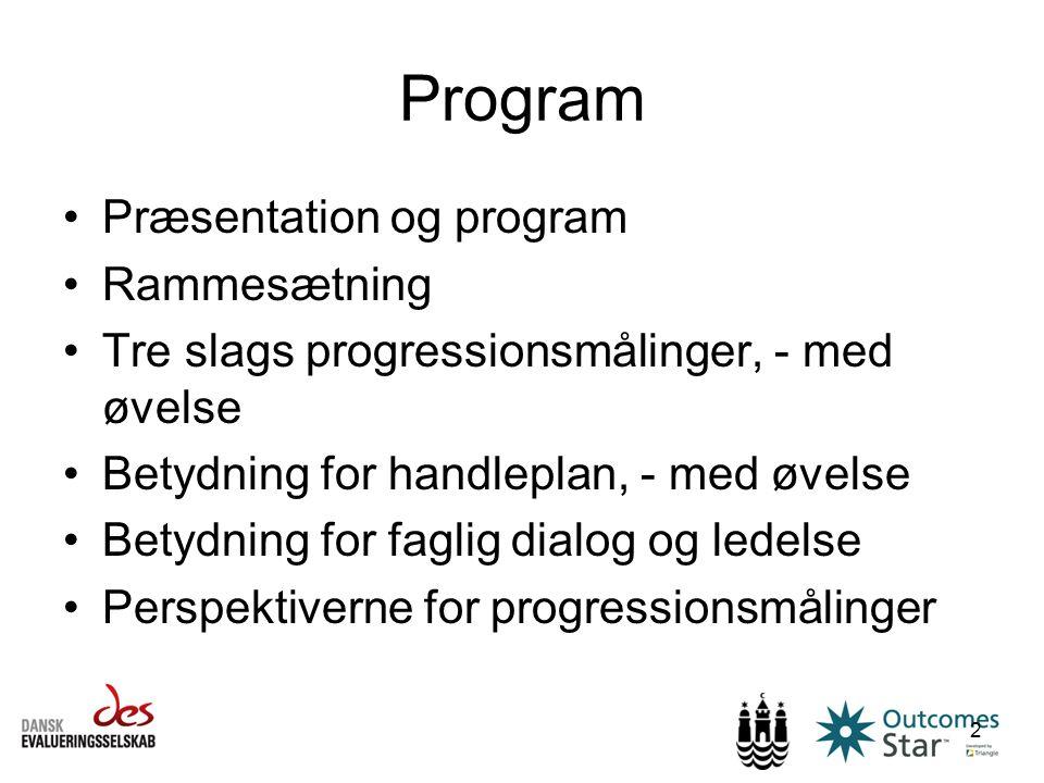 Program Præsentation og program Rammesætning