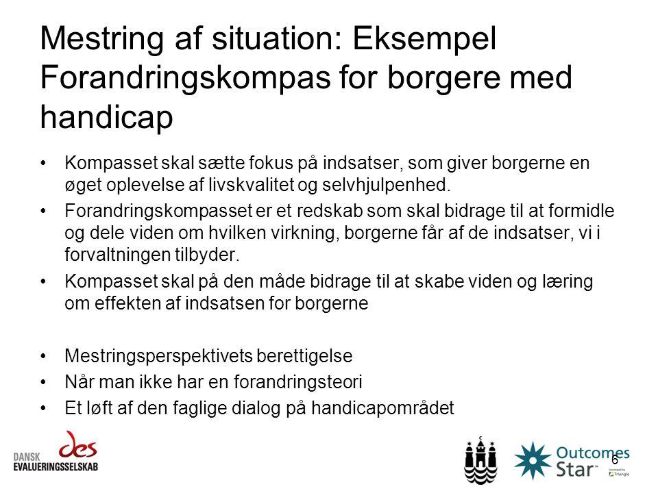 Mestring af situation: Eksempel Forandringskompas for borgere med handicap