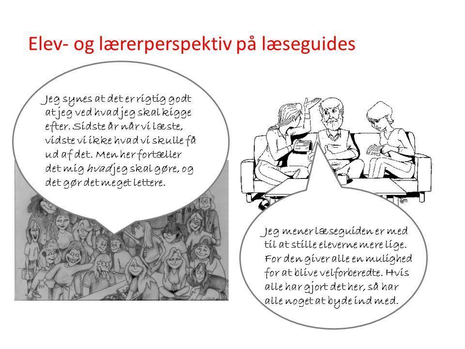 Elev- og lærerperspektiv på læseguides