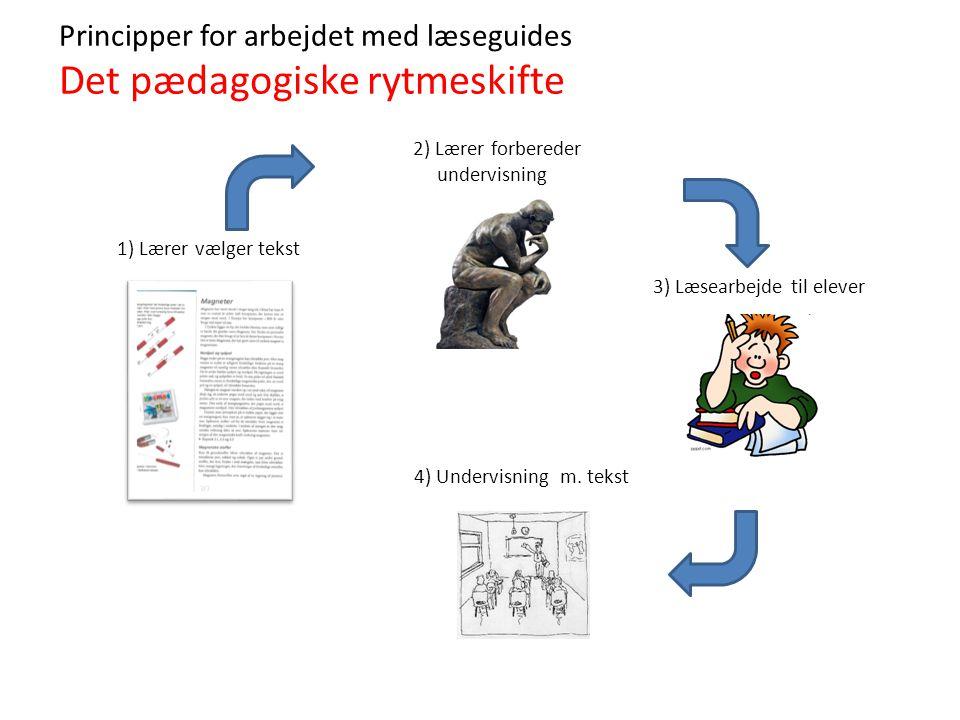 Principper for arbejdet med læseguides Det pædagogiske rytmeskifte
