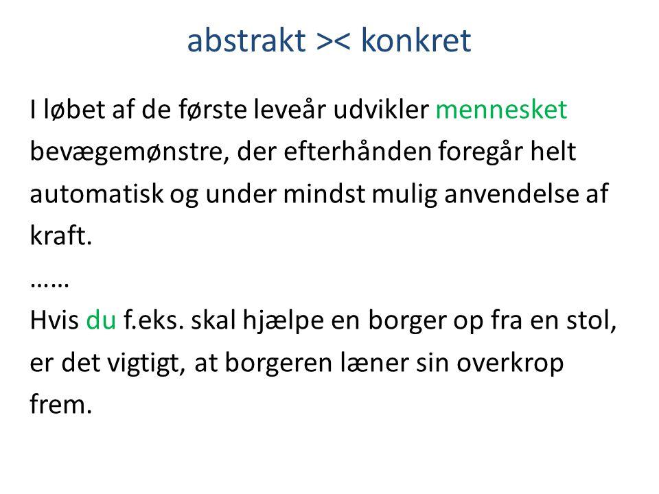 abstrakt >< konkret