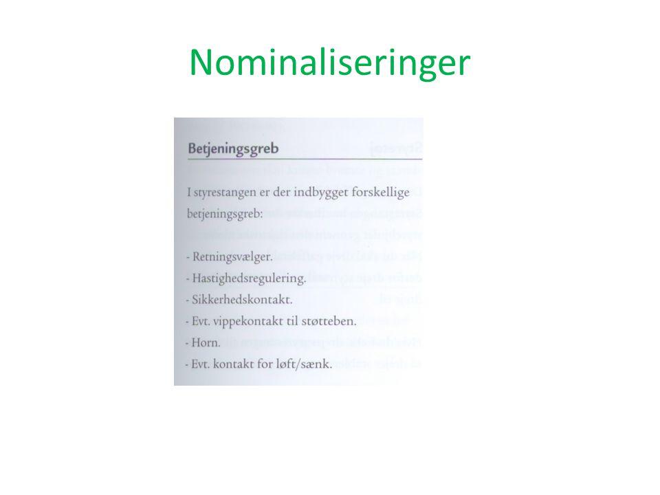 Nominaliseringer