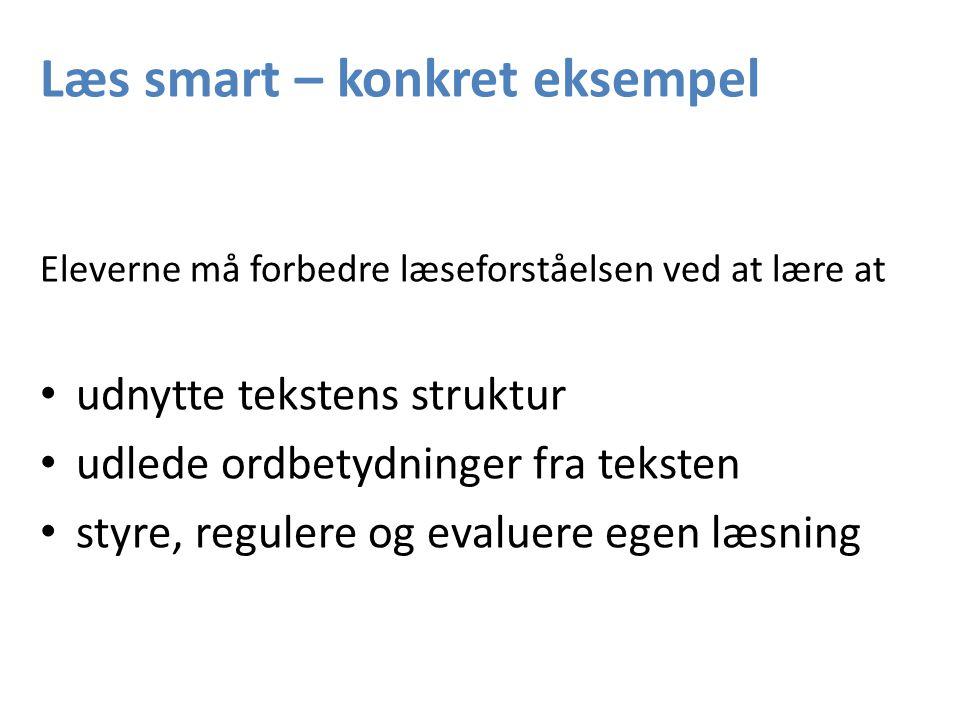 Læs smart – konkret eksempel