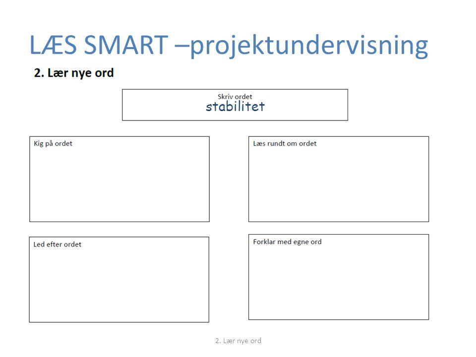 LÆS SMART –projektundervisning