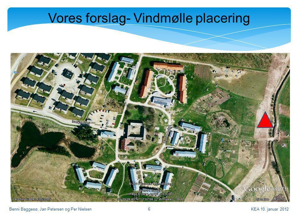 Vores forslag- Vindmølle placering