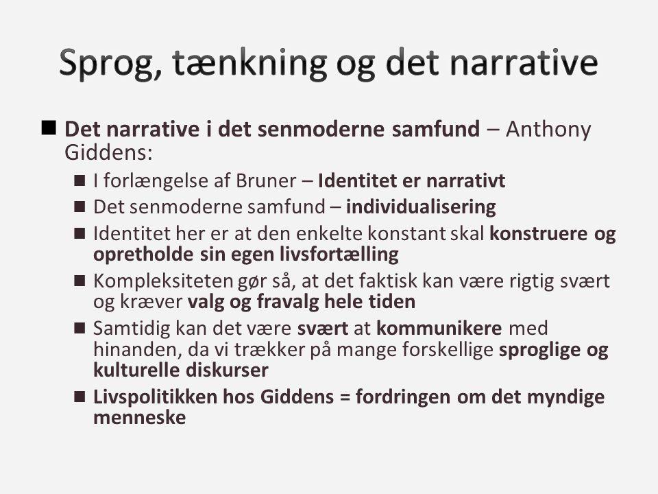 Sprog, tænkning og det narrative