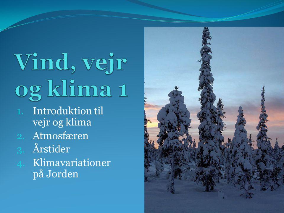 Vind, vejr og klima 1 Introduktion til vejr og klima Atmosfæren