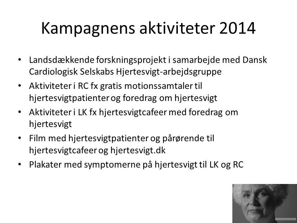 Kampagnens aktiviteter 2014