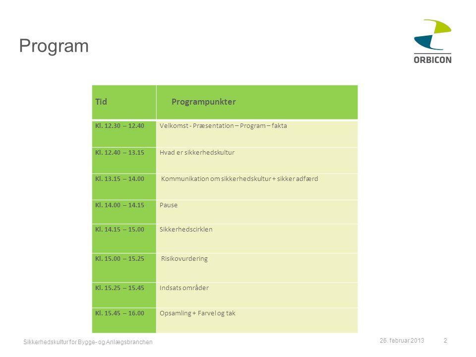 Program Tid Programpunkter Kl. 12.30 – 12.40