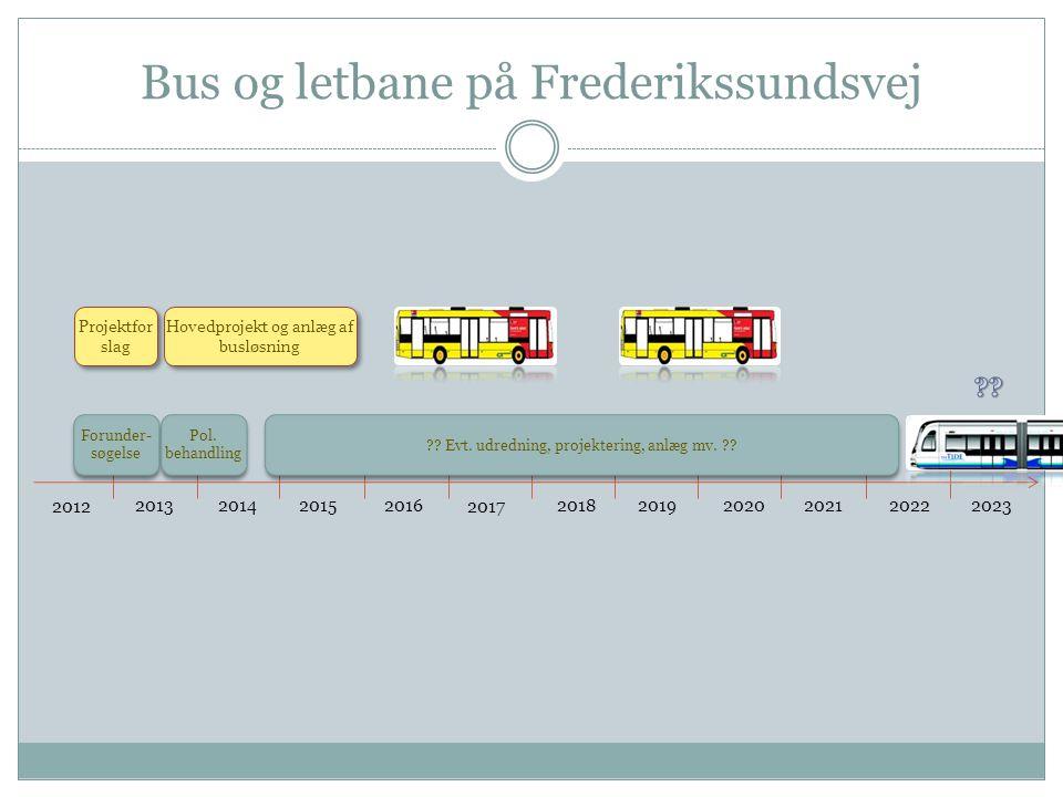 Bus og letbane på Frederikssundsvej