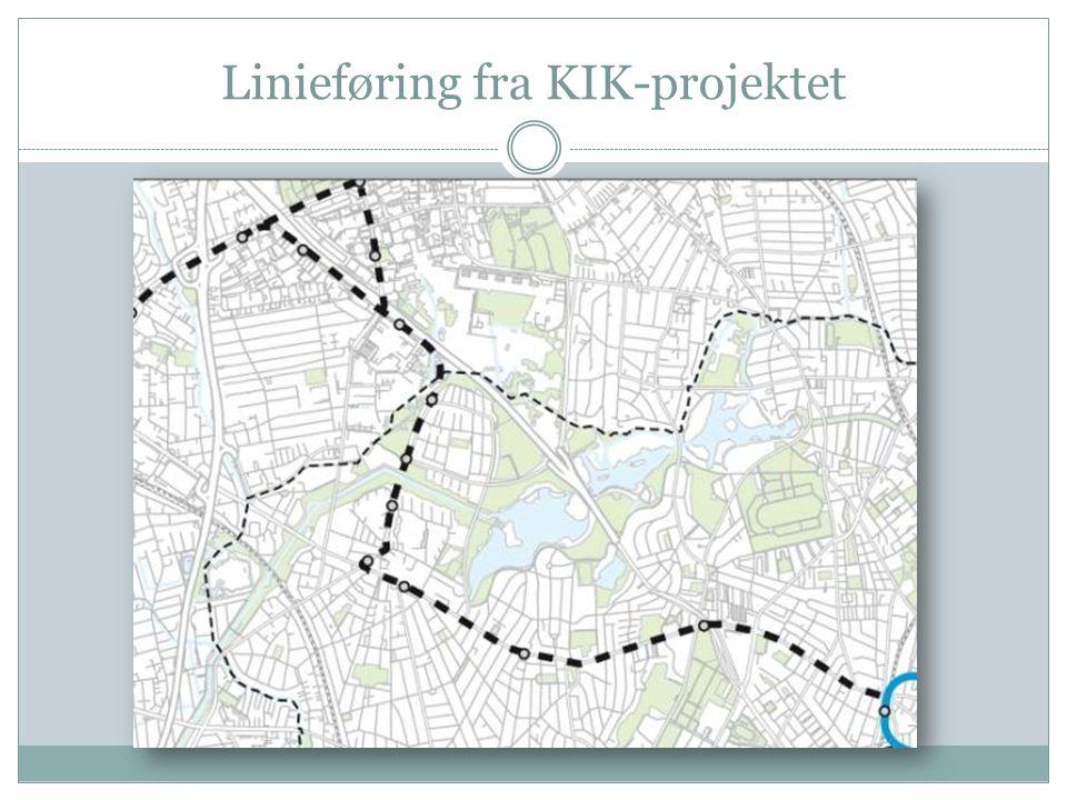 Linieføring fra KIK-projektet
