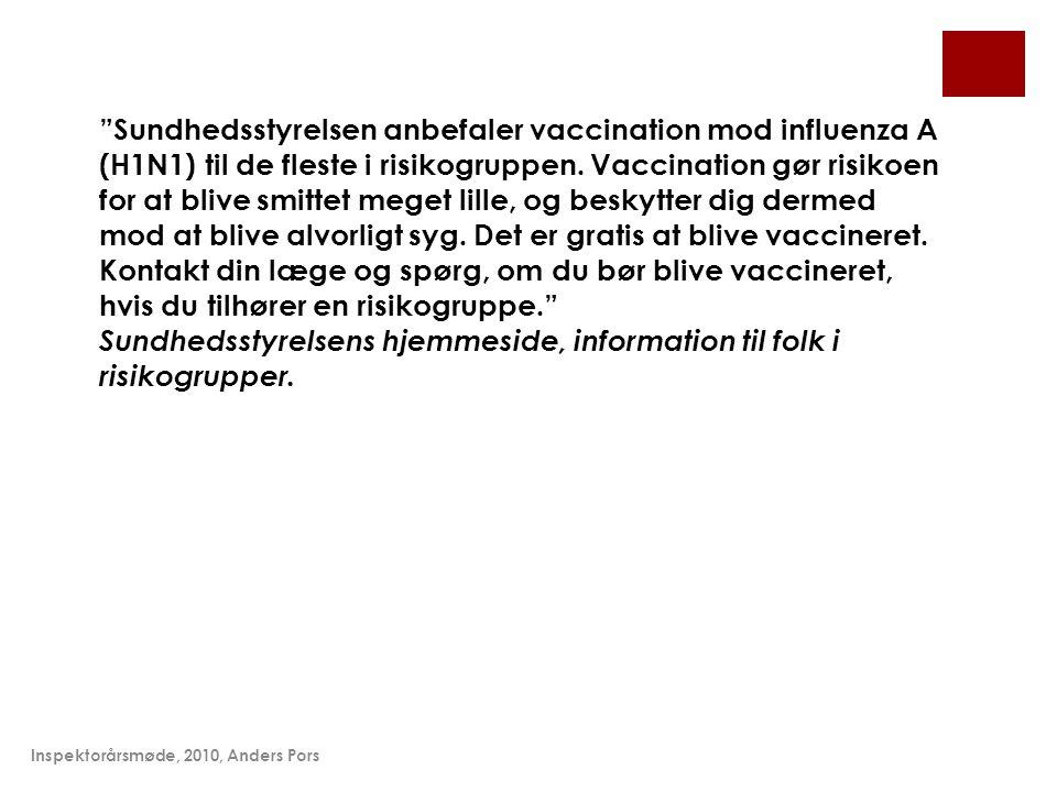 Sundhedsstyrelsens hjemmeside, information til folk i risikogrupper.