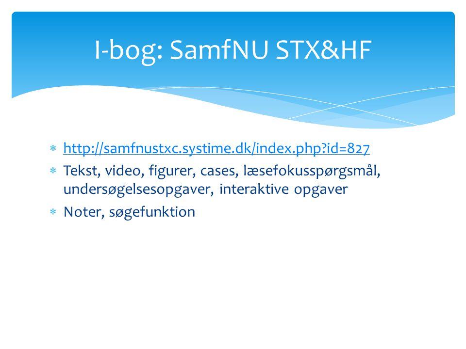 I-bog: SamfNU STX&HF http://samfnustxc.systime.dk/index.php id=827