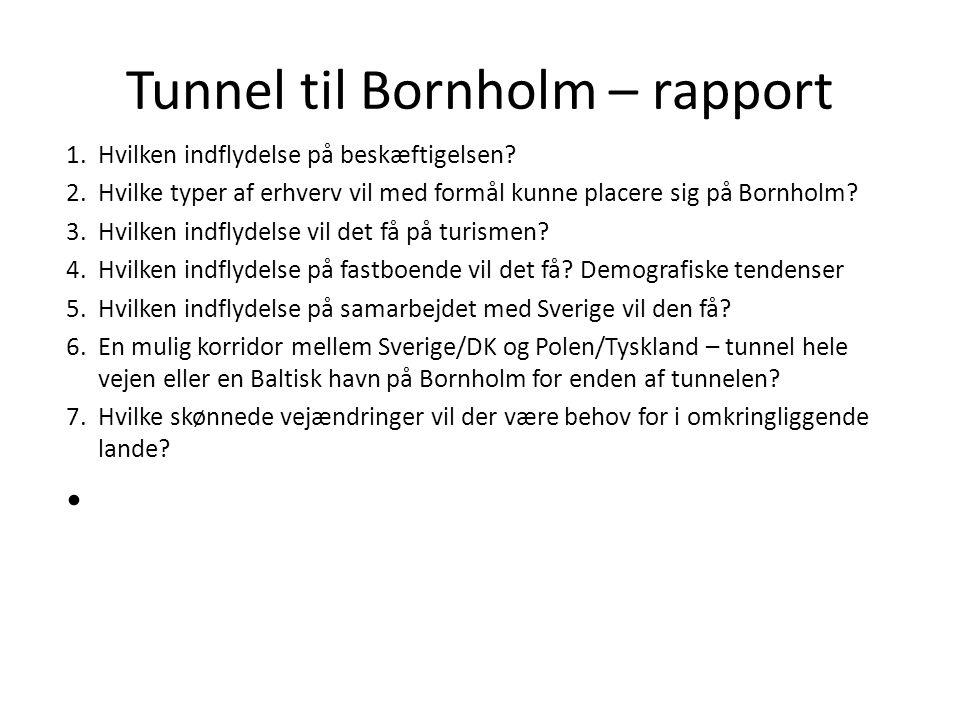 Tunnel til Bornholm – rapport