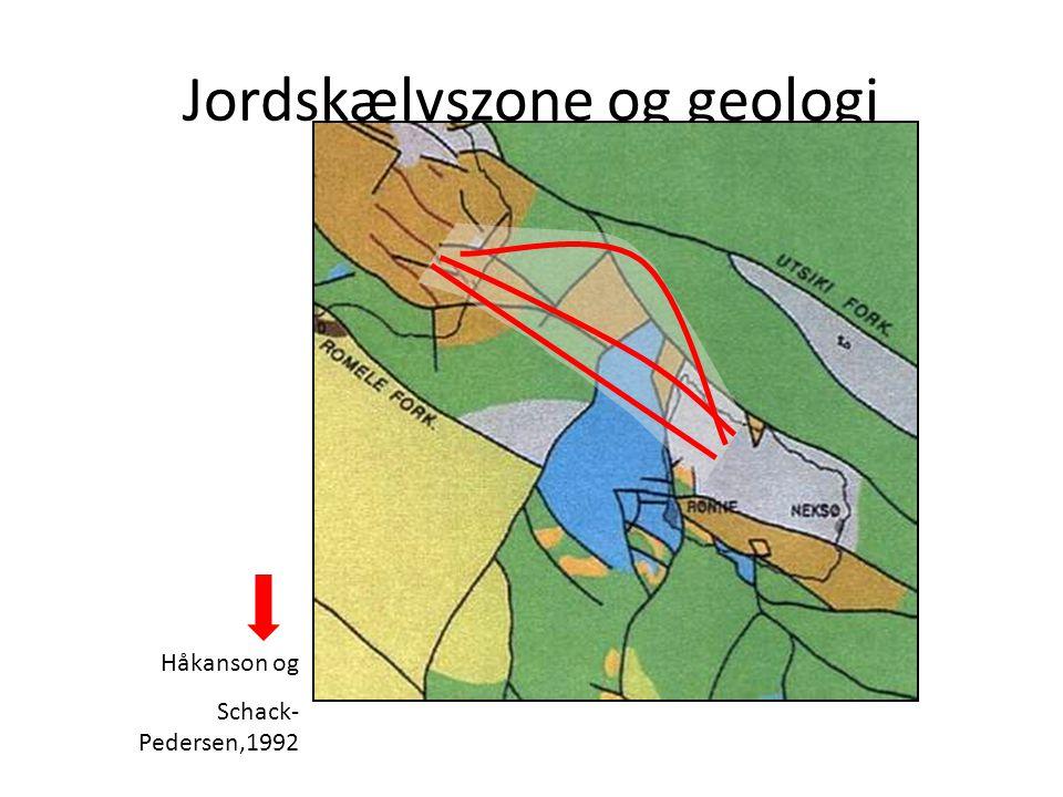 Jordskælvszone og geologi