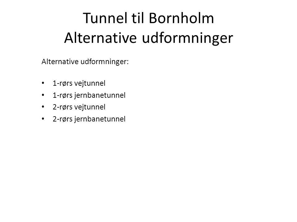 Tunnel til Bornholm Alternative udformninger