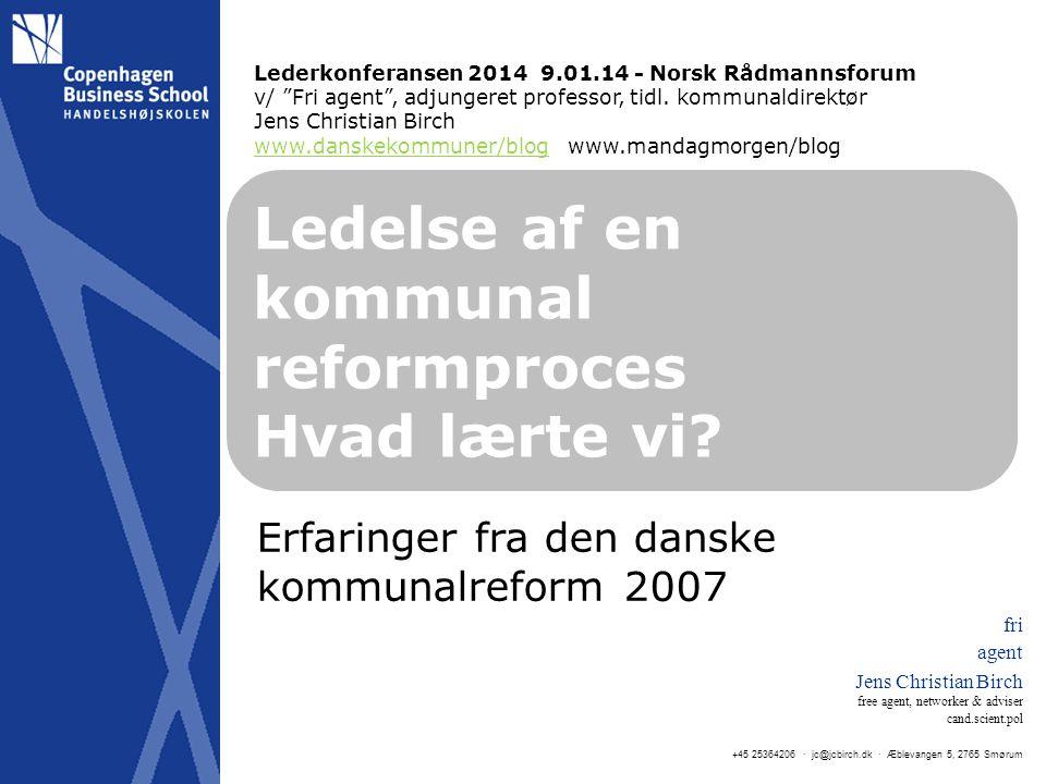 Ledelse af en kommunal reformproces