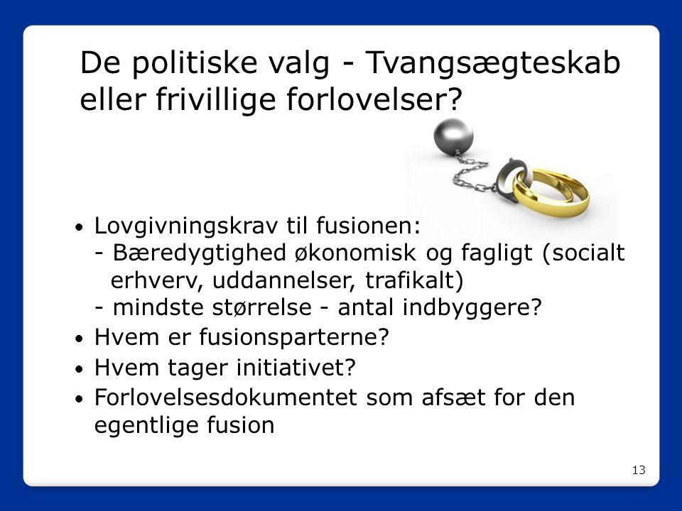 De politiske valg - Tvangsægteskab eller frivillige forlovelser