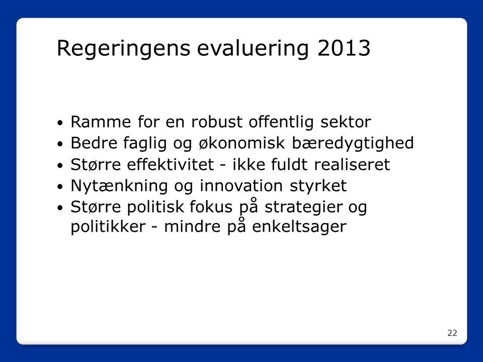 Regeringens evaluering 2013