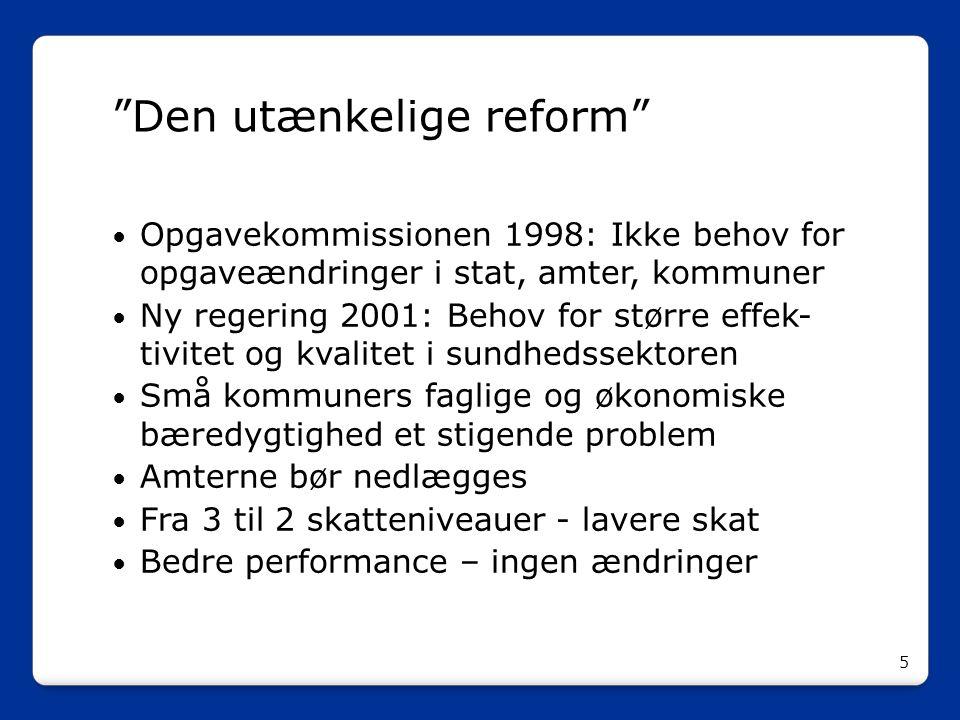 Den utænkelige reform