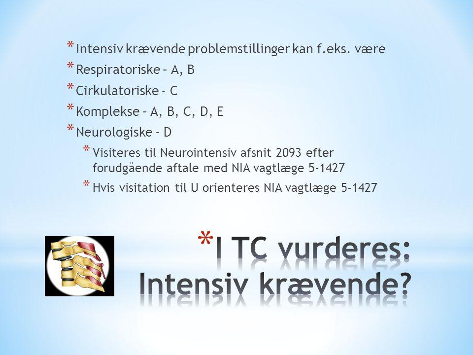 I TC vurderes: Intensiv krævende