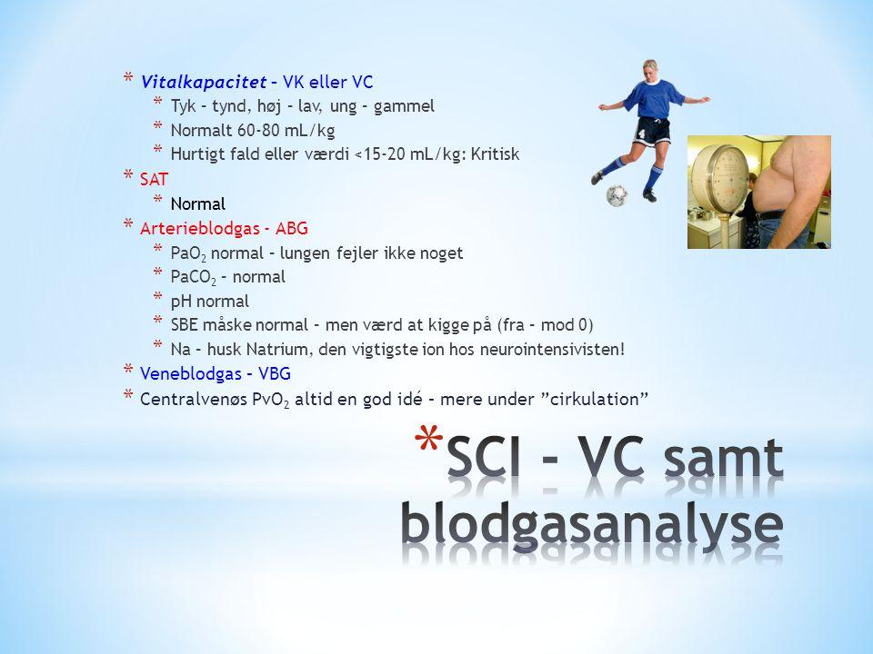 SCI - VC samt blodgasanalyse