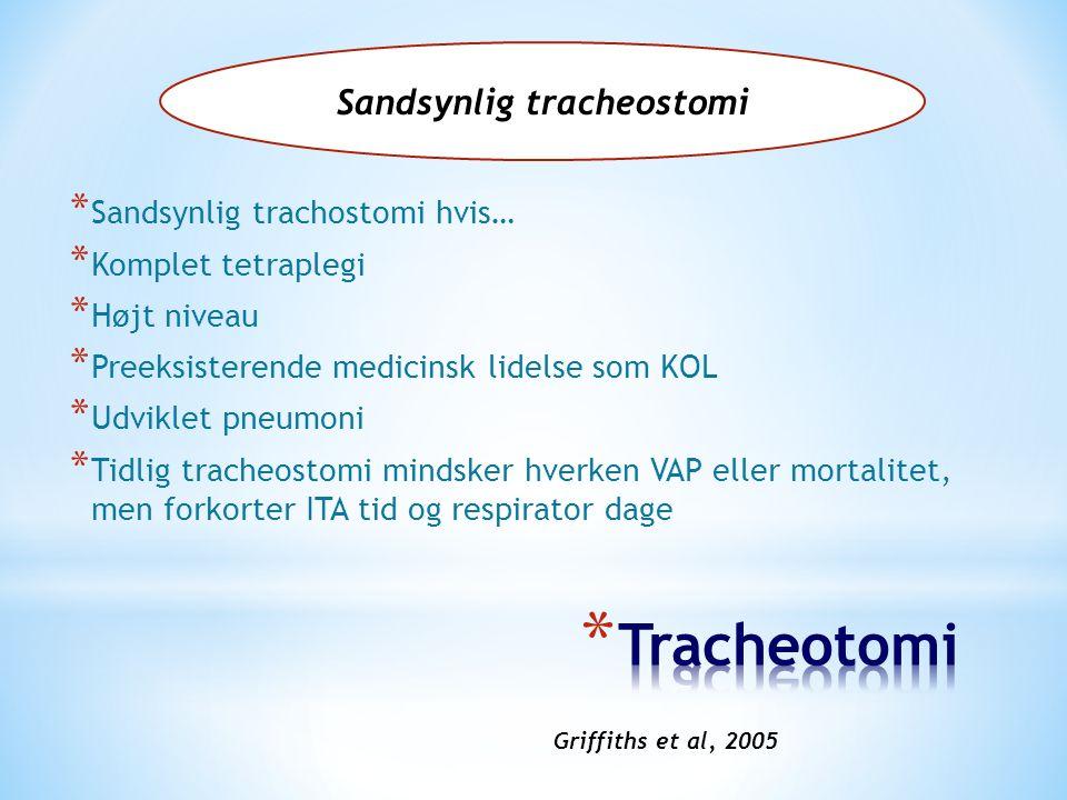 Sandsynlig tracheostomi