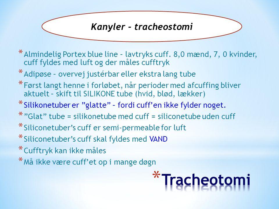 Kanyler - tracheostomi