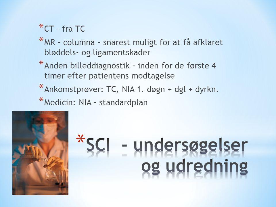 SCI - undersøgelser og udredning