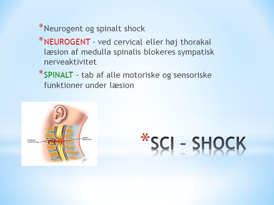 SCI – SHOCK Neurogent og spinalt shock