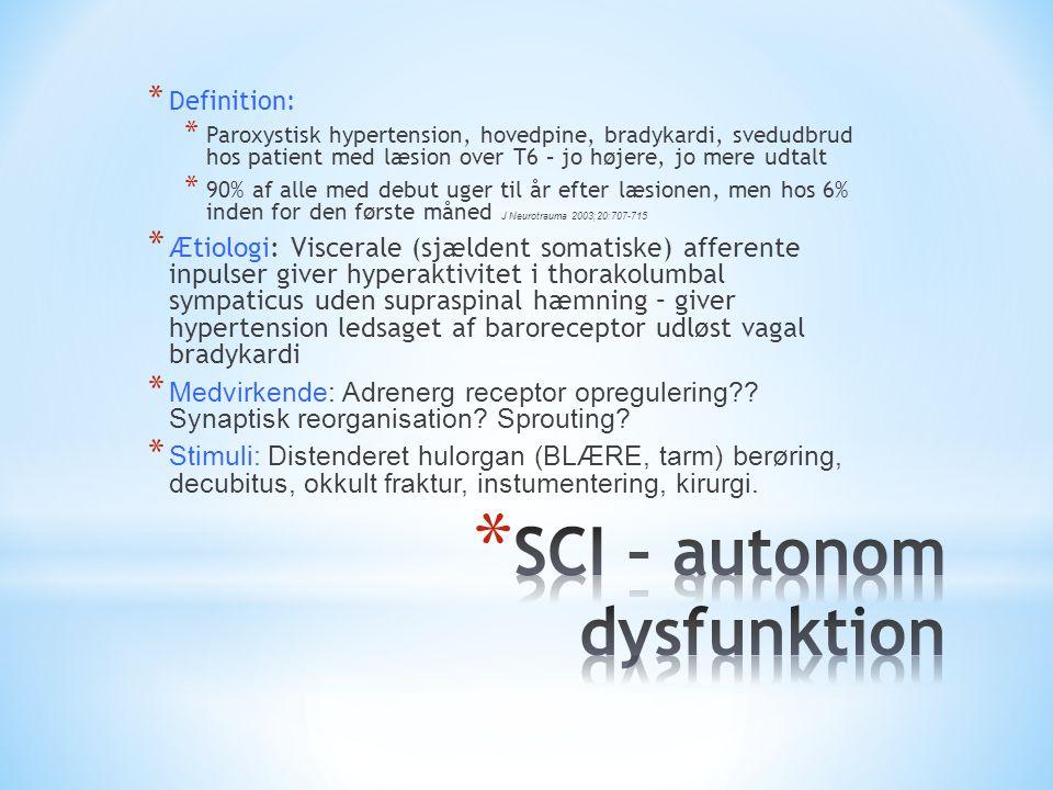SCI – autonom dysfunktion