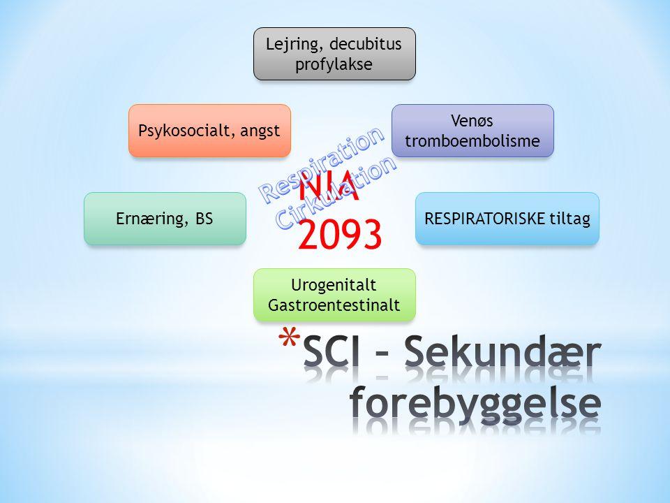SCI – Sekundær forebyggelse