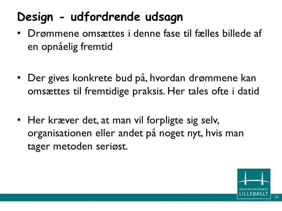 Design - udfordrende udsagn