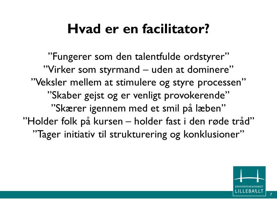 Hvad er en facilitator.