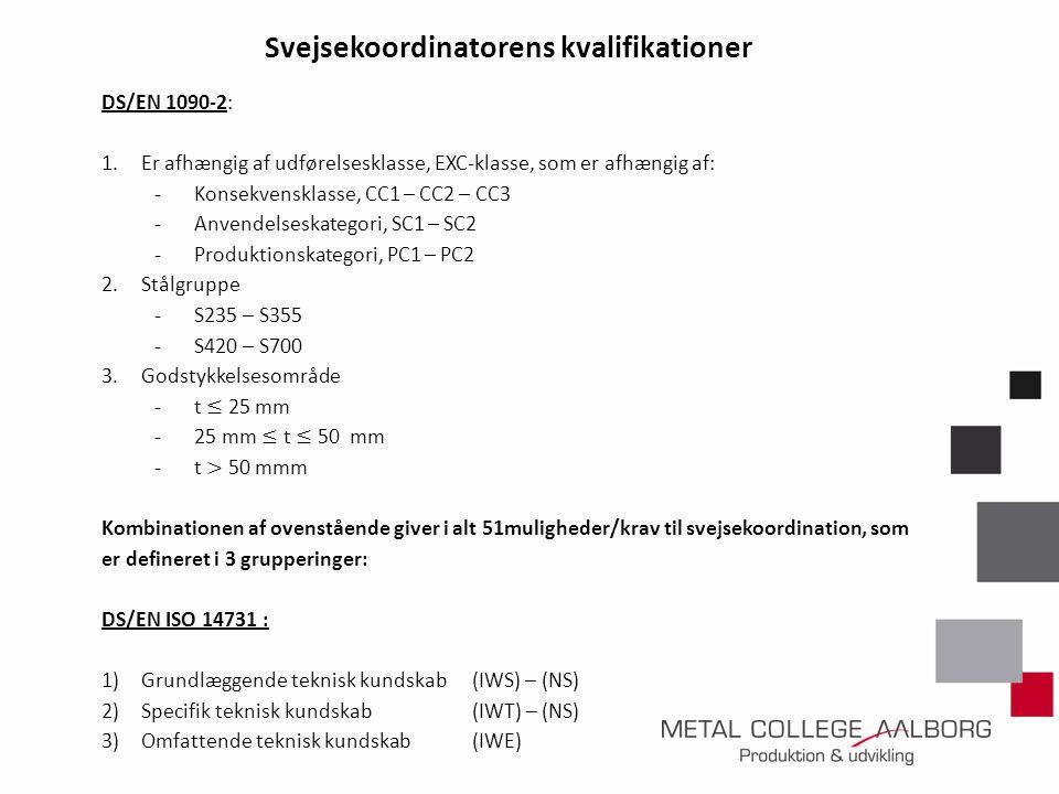 Svejsekoordinatorens kvalifikationer