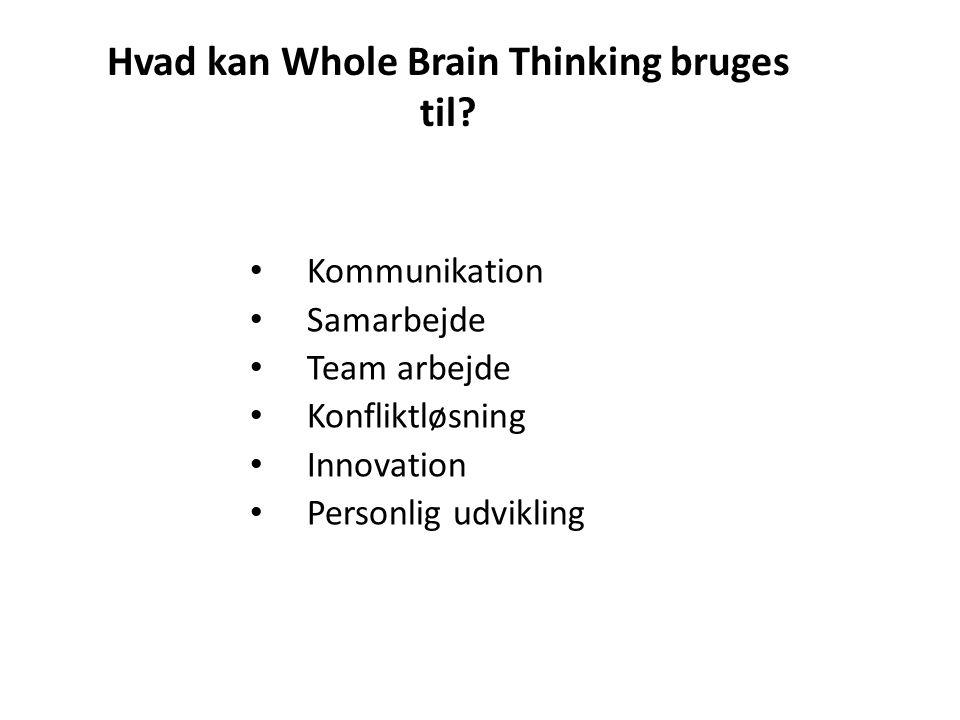 Hvad kan Whole Brain Thinking bruges til