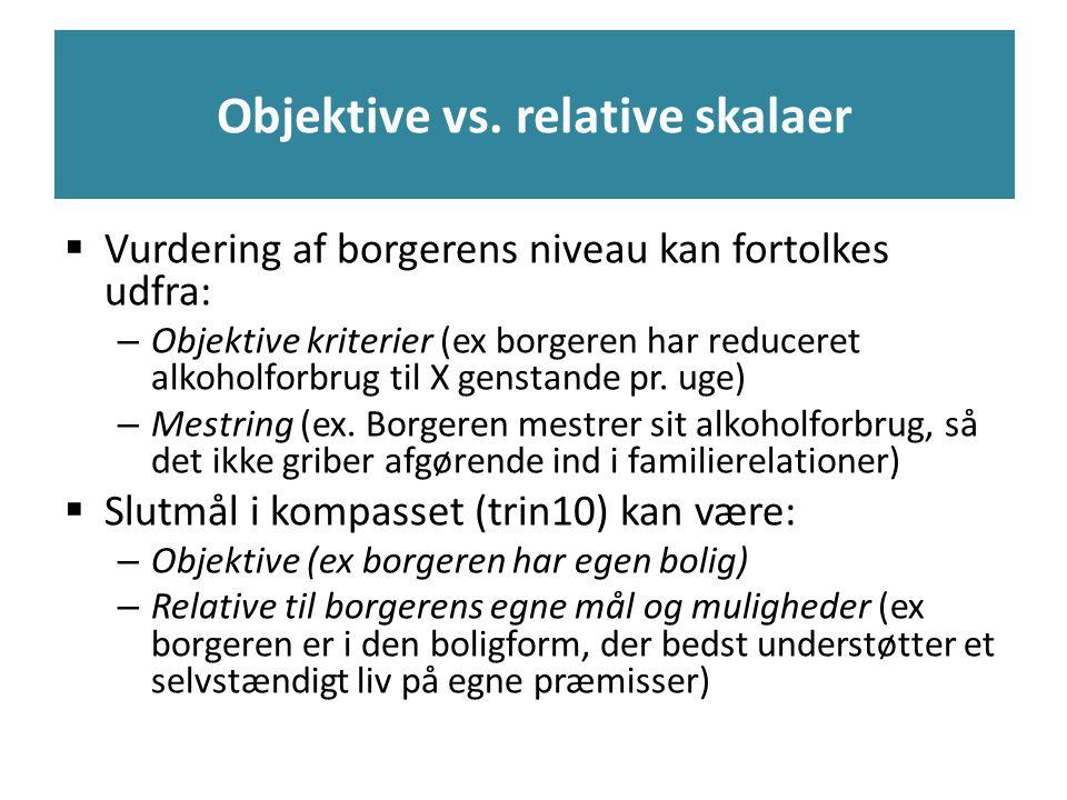 Objektive vs. relative skalaer