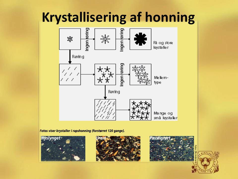 Krystallisering af honning