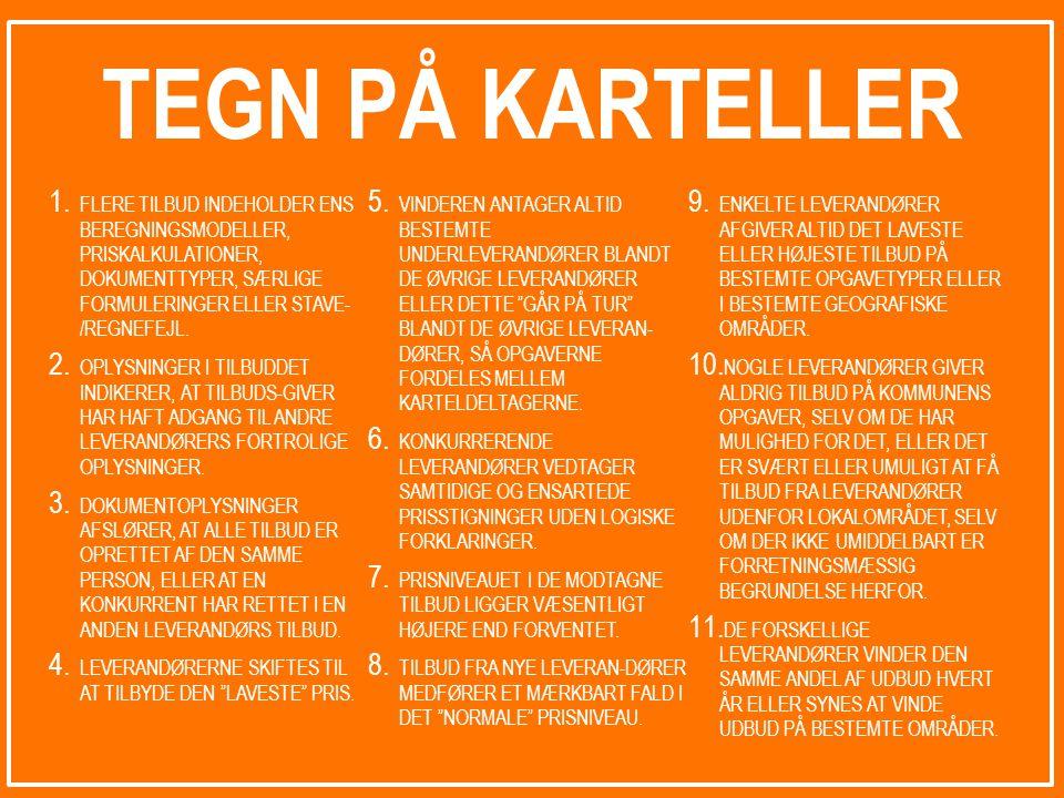 TEGN PÅ KARTELLER