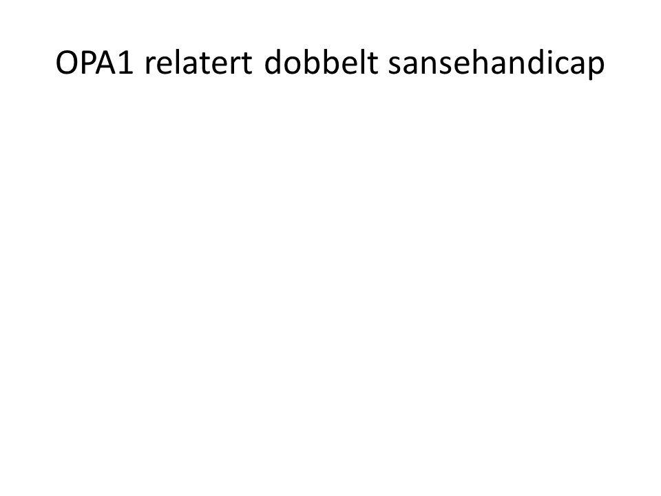 OPA1 relatert dobbelt sansehandicap
