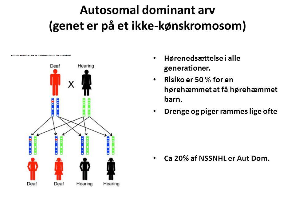 Autosomal dominant arv (genet er på et ikke-kønskromosom)