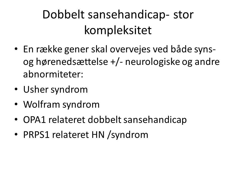 Dobbelt sansehandicap- stor kompleksitet