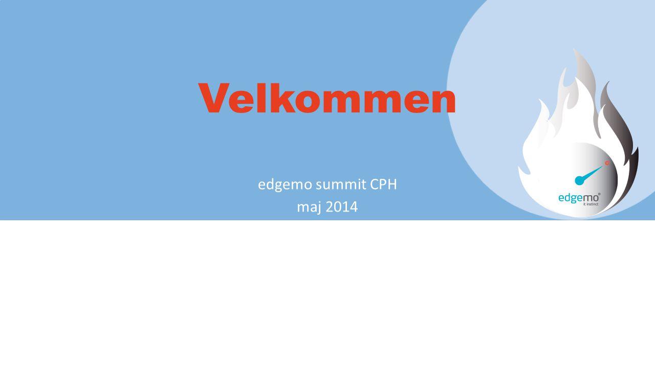 Velkommen edgemo summit CPH maj 2014